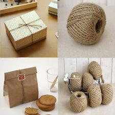 1Roll Hot Fashion Brown Jute Hessian Burlap Twine String Craft Cord Decor DIY