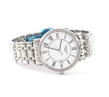 Men's  Longines L4.720.4.11.6 / L47204116 Presence Quartz White Dial Watch