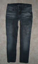 Chip & Pepper The Nik black gray low straight leg slim ankle crop jeans Size 25