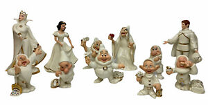 Lenox Disney Snow White and the Seven Dwarfs The Prince Witch Queen Full Set