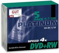 Platinum DVD+RW Rohlinge 4,7 GB 120 Minuten 4x Speed in Slimcase 5er Pack