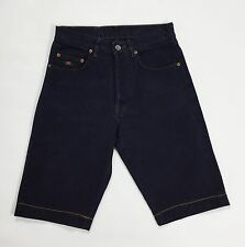 Charro jeans w29 42 shorts pantalone corto hot usato blu mom estate donna T1678