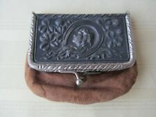 Leather Coin Purse - Antique Art Nouveau - State Bank of Standish Michigan