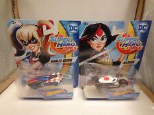 RARE HOT WHEELS CHARACTER CARS DC SUPER HERO GIRLS HARLEY QUINN & KATANA