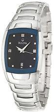 Bulova 96D20 Diamond Accent Blue Dial Stainless Steel Men's Watch