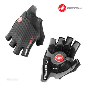 NEW 2021 Castelli ROSSO CORSA PRO V Summer Cycling Gloves : DARK GREY