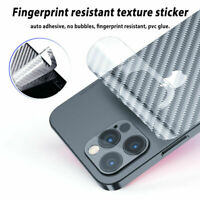 3D Carbon Fiber Skin Back Cover Screen Protector Film For iPhone 12 mini Pro Max