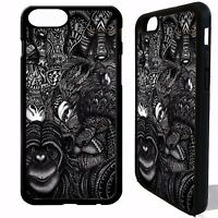 African animal vtg pattern phone case cover for iphone 5 5c SE 6 6S 7 8 plus X