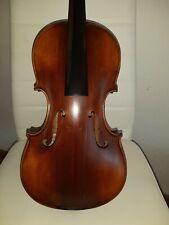 Alte Geige mit Zettel