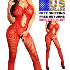 Women Body Stocking Sexy Lingerie Nightwear Sleepwear Bodysuit Fishnet Babydoll