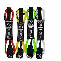Surf und Stand Up Paddle Board Leash 9 Fuss 8mm verschiedene Farben