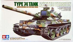 Tamiya Japan Ground Self Defense Force Type 74 Tank Winter Ver 1/35 Model Kit