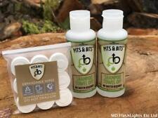 2 X BOX & Bits senz'acqua Shampoo a Secco Campeggio Escursionismo Bushcraft EDC Festival KIT