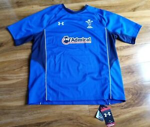 Brand New Wales Rugby Union Football  Shirt Under Armour size XXL Blue rare