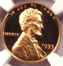 1953 Proof Lincoln Wheat Cent 1C - NGC PR66 RD Ultra Cameo PQ (PF69 UCAM DCAM)