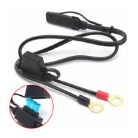1* New Motorcycle Battery Terminal Ring Connector Harness Charger Adapter Cable