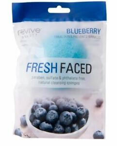 Revive Beauty Fresh Faced Paraben Sulvate Phthalate Free Cleansing Sponges Blueb