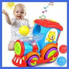 Baby Toy Ball Popping Musical Train For Boy Girl Age 1 2 3 W Light Music Chase &