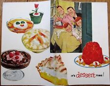 Jell-O 1953 Recipe & Advertising Booklet, 'It's Dessert Time!'