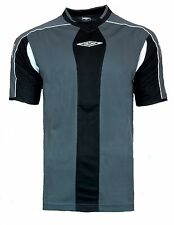 NEW Mens LARGE Umbro Evo Training Top T Shirt BLACK Football Gym Running L