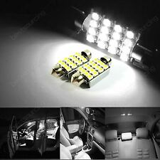 1 Paar 38MM Soffitte SMD LED Fußraumbeleuchtung Innenraumbeleuchtung Xenon Weiß