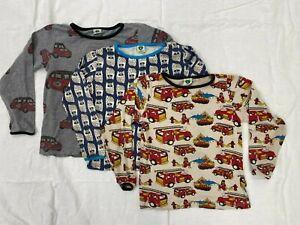 Adorable Smafolk boys long-sleeve shirts, size 5-6 (110-116) - lot of 3