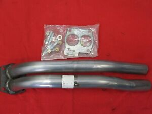 Triumph TR4A / TR6 Downpipe Exhaust Stainless Falcon Front Twin Pipe