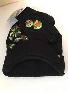 Nickelodeon Teenage Mutant Ninja Turtles Boy's Hat & Gloves 2 Piece Set  NWT