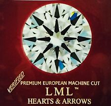 1Ct loose Simulated Diamond,Round,8 Arrows & Hearts,6.50 mm,VVS1 Clarity,D Color