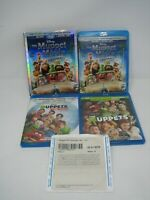 MUPPET 4 MOVIE LOT BLURAY + DVD SETS MOST WANTED IN SPACE DISNEY KERMIT