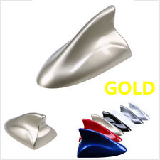 Car Shark Fin Antenna Radio Aerials Auto Truck Gold FM/AM Signal Shark Antennas