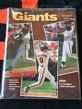 1993 SAN FRANCISCO GIANTS MAGAZINE Vol 8 No 5 CLARK,BONDS,WILLIAMS COVER