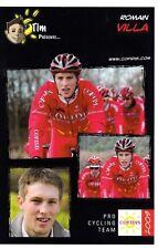 CYCLISME carte cycliste ROMAIN VILLA équipe COFIDIS 2009
