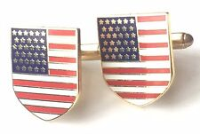 Crested Cufflinks (N242) Gift Boxed Usa United States of America Enamel