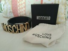 MOSCHINO LETTER BELT. TOP QUALITY. MOSCHINOS MOST POPULAR ICONIC BELT 8-14