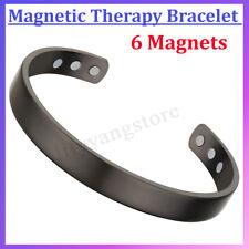 Dark Grey Copper Magnetic Bracelet Plain Pain Arthritis Cuff Bangle Wristband