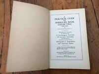 practical guide to american book collecting .limited edition dated 1941