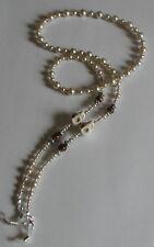 NEW Glass Pearl Beads Tiger Eye Gemstone Beads White Skull Glasses Chain Holder