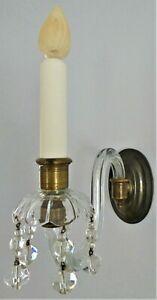⭐ Three (3) E F Caldwell & Company NYC Sconces. 1920 Original Porcelain Candles