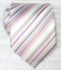 Cravatta righe, Nuova , seta 100% Made in Italy handmade Morgana marca