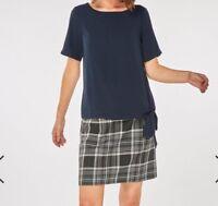 dorothy perkins. Navy Tie Hem T-Shirt. Size UK14 RRP£22 BOX43