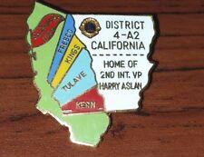 Vtg San Fran 1974 CALIF DIST. 4-A2 LIONS Club Pin Home 2nd Int. VP Harry Aslan