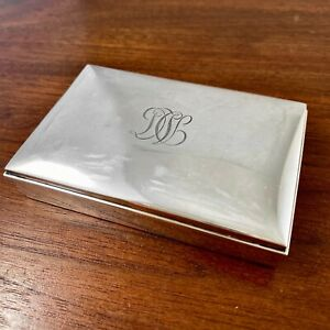 """TIFFANY & CO STERLING SILVER PARCEL GILT JEWERLY / SNUFF BOX 3.8"""""""