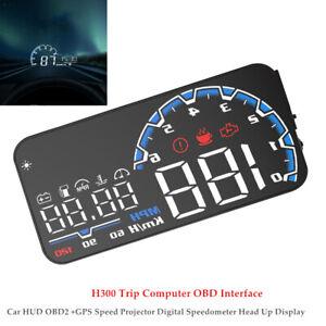 Car Auto H300 HUD OBD2+GPS Speed Projector Digital Speedometer Head Up Display