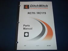 Ditch Witch Rc70 Rc115 Reel Carrier Parts Book Manual Catalog