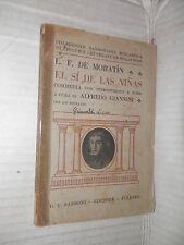 EL SI DE LAS NINAS L F DE MORATIN ALFREDO GIANNINI SANSONI 1937 letteratura di