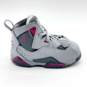 Jordan True Flight GT Wolf Grey Deadly Pink Toddler Shoes 645071 018