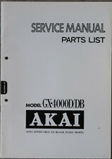 Original AKAI GX-4000D/DB Tape Deck / Recorder / Tonbandgerät Service Manual