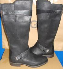 UGG Australia Women's DAYLE Black Tall Leather Boots Size US 7,EU 38 NIB 1007671