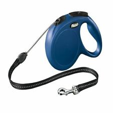 Flexi Classic Cord Extending Lead in Blue for Dogs - 8 m - Medium